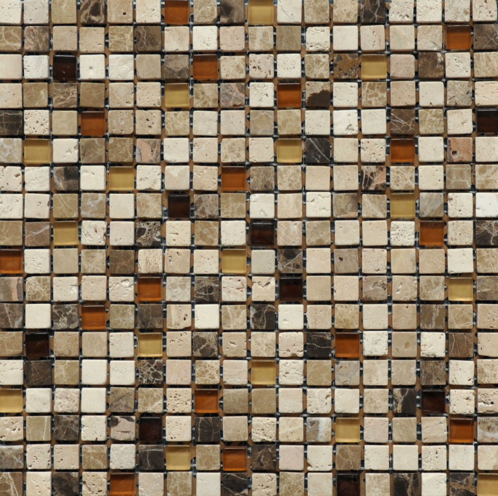 Beige Marble And Glass Mosaic SZD-10-15
