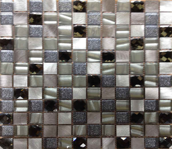 Collection BC 537 Cut Glass Mosaic Champagne Silver SG200