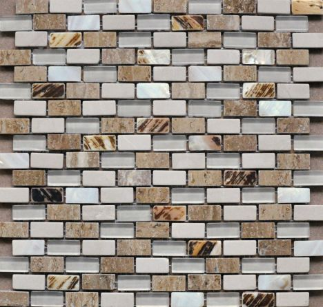 Pearl, Beige Marble And Glass Mosaic TF0132LR-5