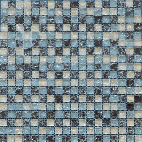 Crackle Glass Brown Beige Grey  Mosaic