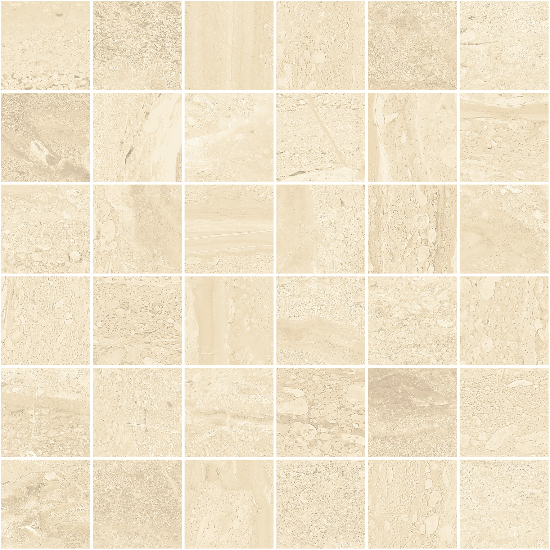 Floor Collection FC167 300mm x 300mm Delta Malla Beige Mosaic