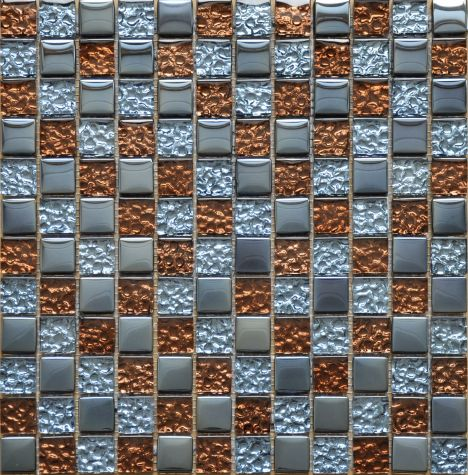 Stokes Silver Gold Glass Mosaic TZ0601LRG-23