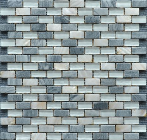 Pearl, Grey Marble And Glass Mosaic TF0132LR-6