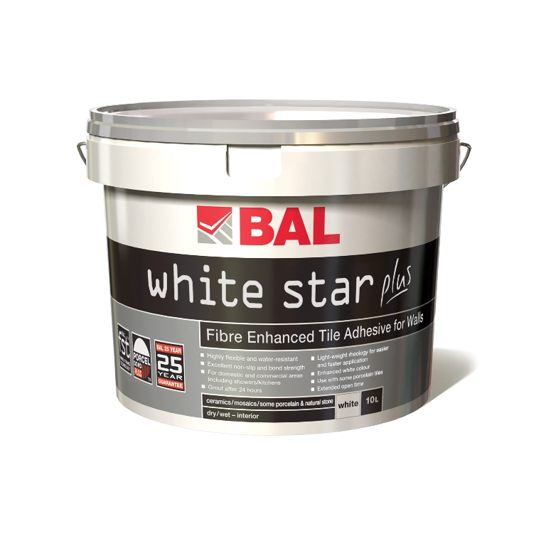 Bal Wall White Star Plus Adhesive - 15 Kilos (10 Litre)