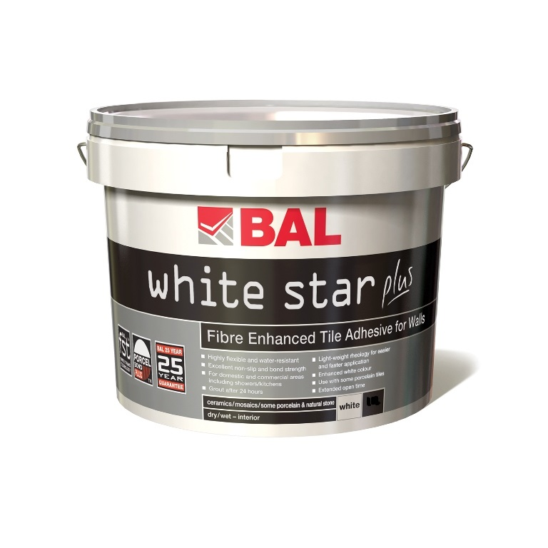 Bal Wall White Star Plus Adhesive - 3.75 Kilos (2.5 Litre)
